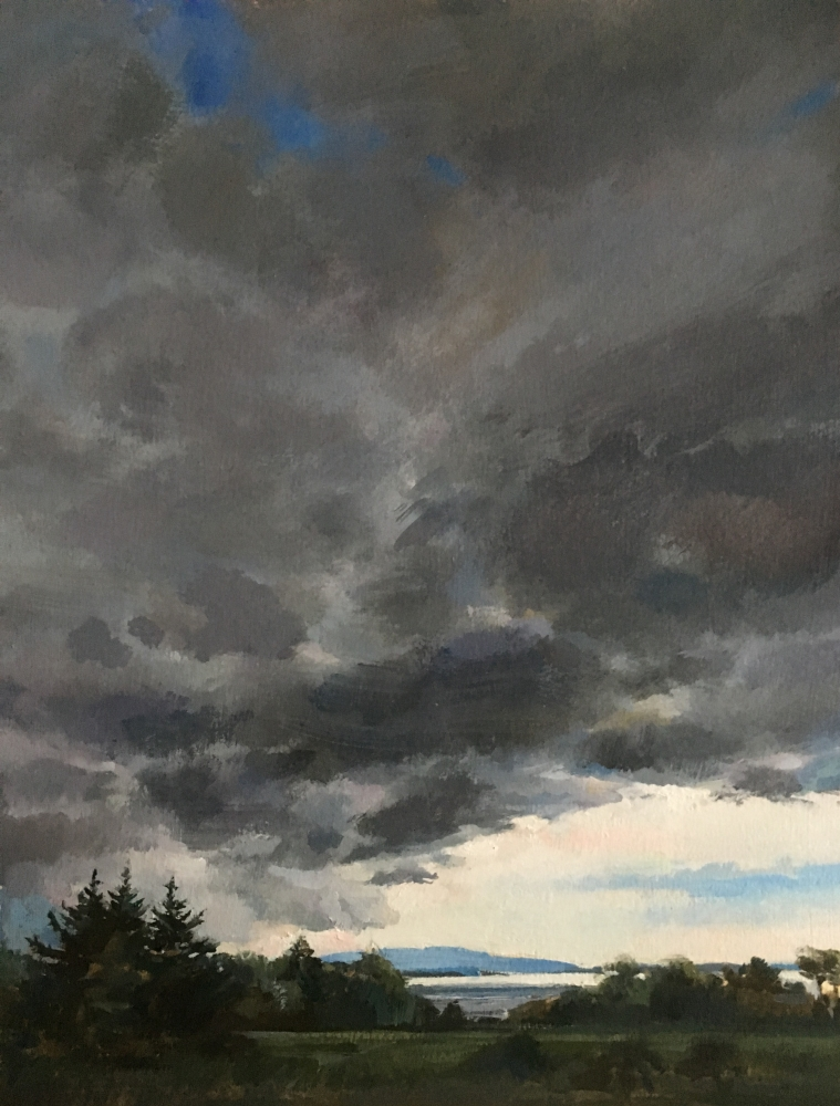"""Storm Is Coming  14"""" x 11""""  Oil On Board"""