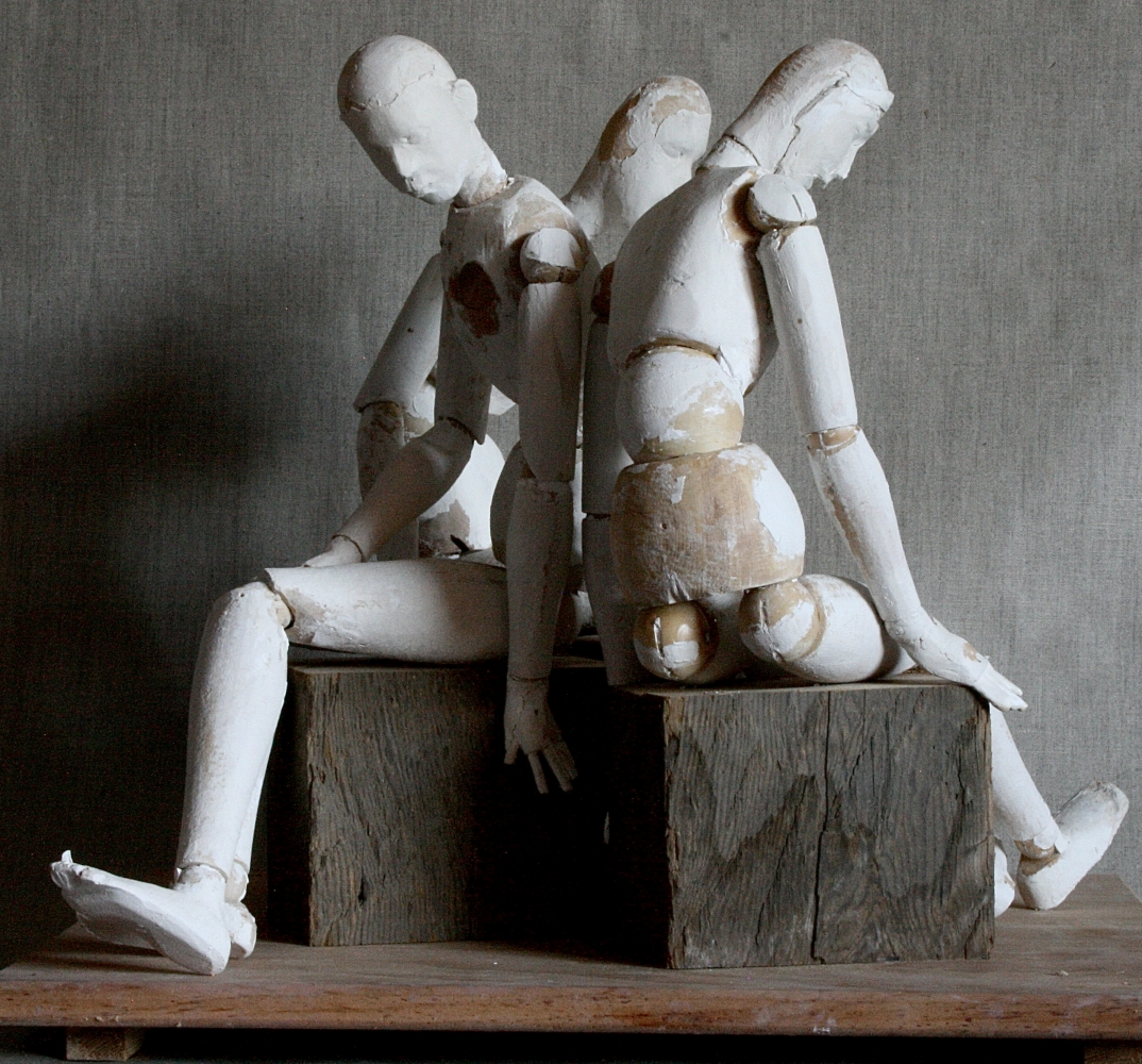 """Until You Speak, Until You Speak Right  18"""" x 21"""" x 20""""  Wood And Plaster"""