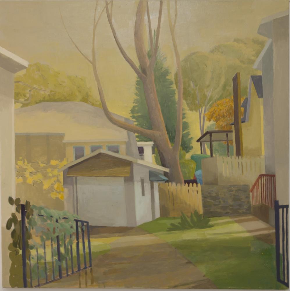 Celia Reisman, Open Gates, oil on canvas, 30 x 30 inches