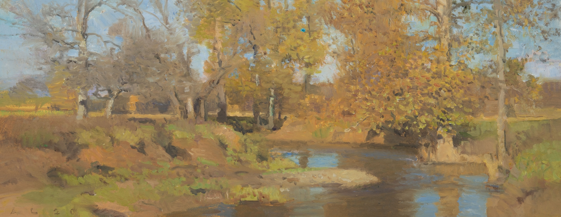 """Swoope Fall I  8"""" x 20.25""""  Oil On Panel"""