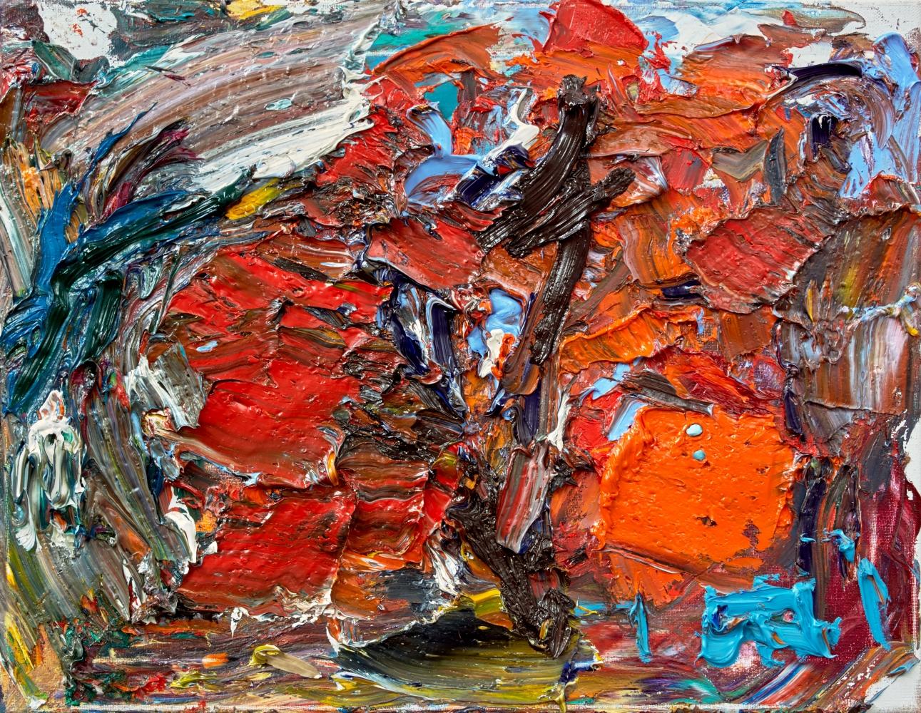 """Red Oak #6  12"""" x 16""""  Oil On Linen"""