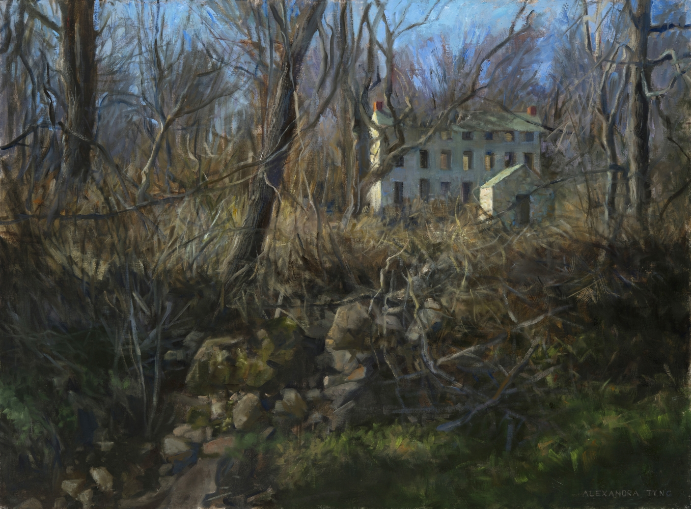 """To The Source  28"""" x 38""""  Oil On Linen"""