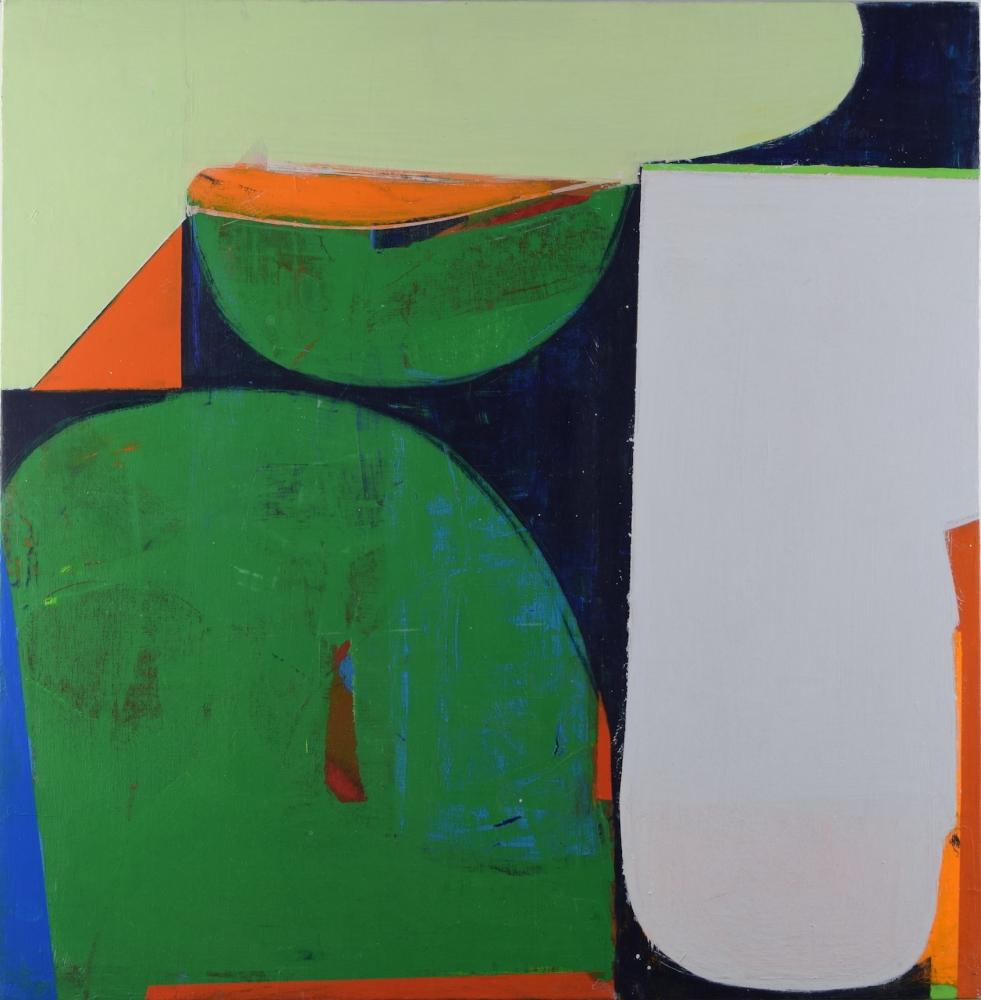 "Kerplunk Again  24.5"" x 24.5""  Acrylic On Canvas On Panel"