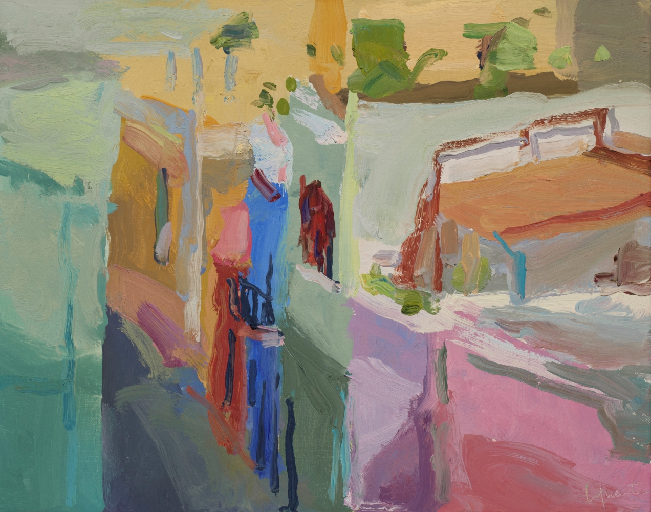 """Calle Sol, Evening  11"""" x 14""""  Oil On Linen"""
