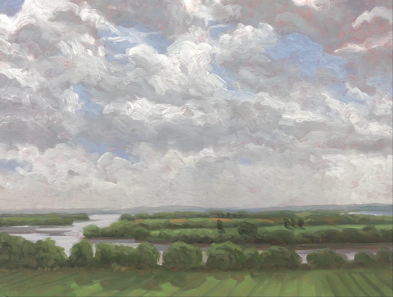 Missouri Bottomlands  22″ x 16″  Oil On Panel
