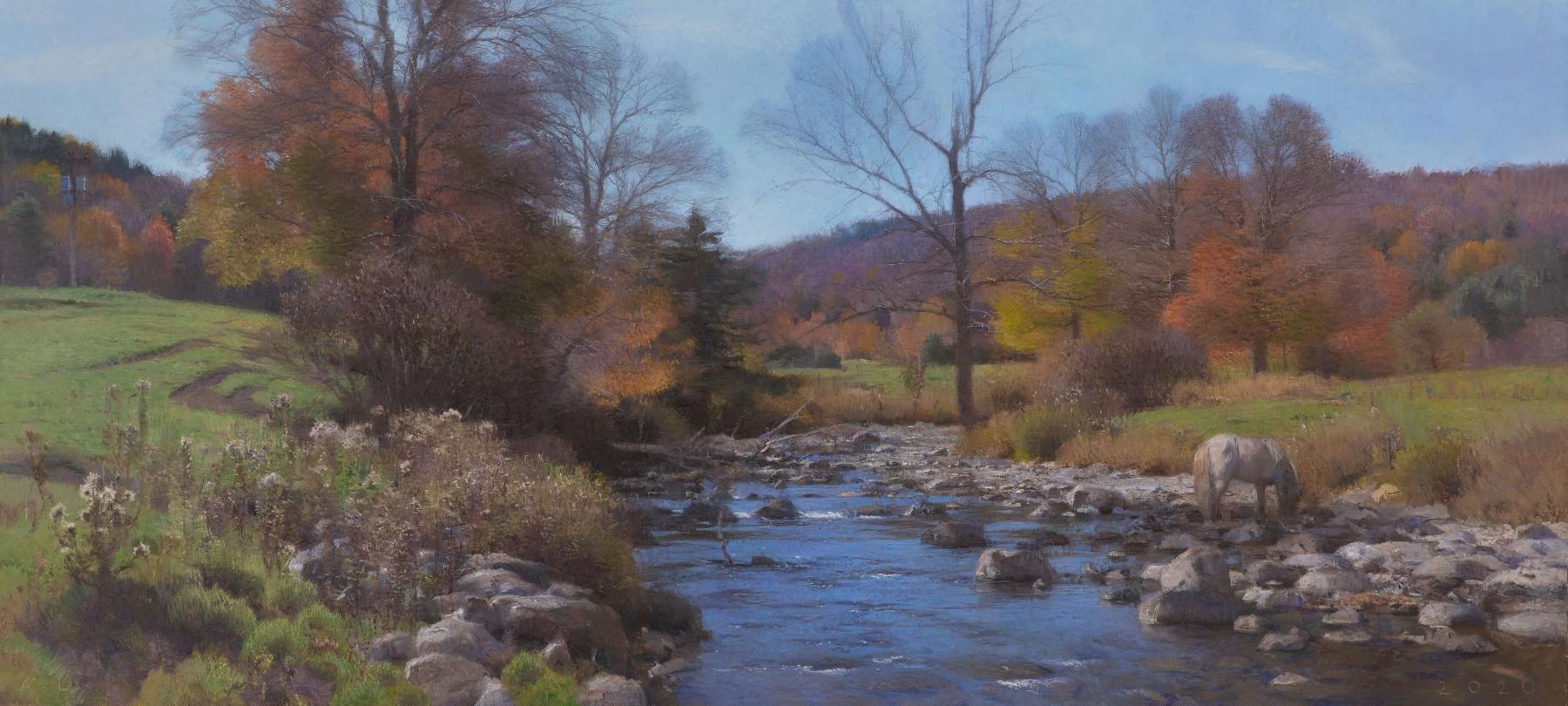 """Stony Creek  27.25"""" x 60""""  Oil On Canvas"""