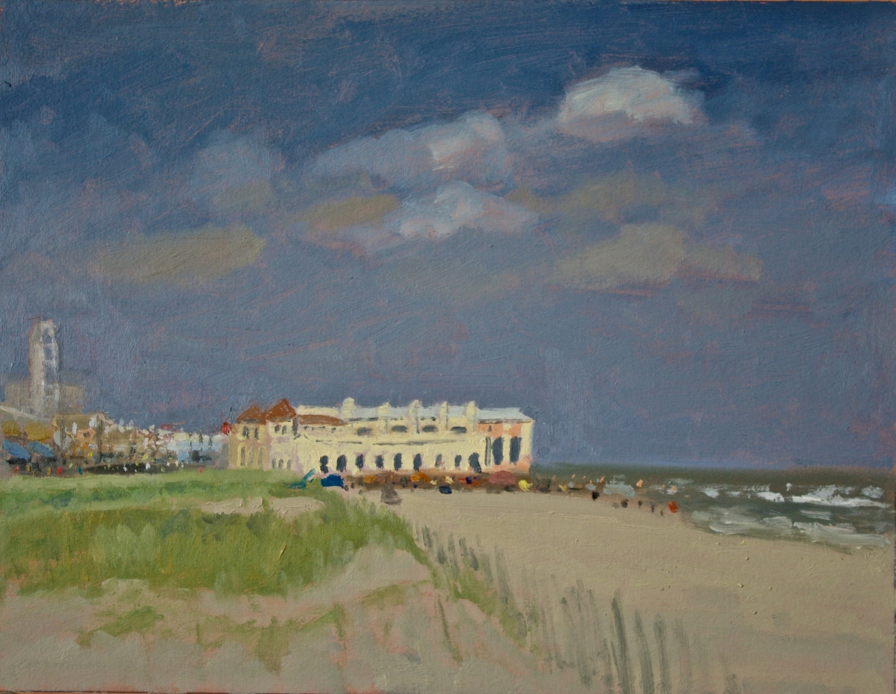 """The Boardwalk In The Distance  11"""" x 14""""  Oil On Panel"""