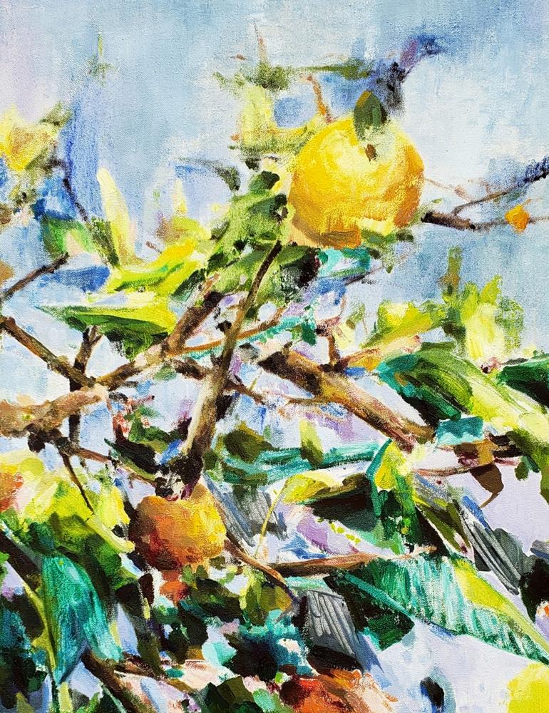 """Fruit Tree II  20"""" x 16""""  Oil On Canvas"""
