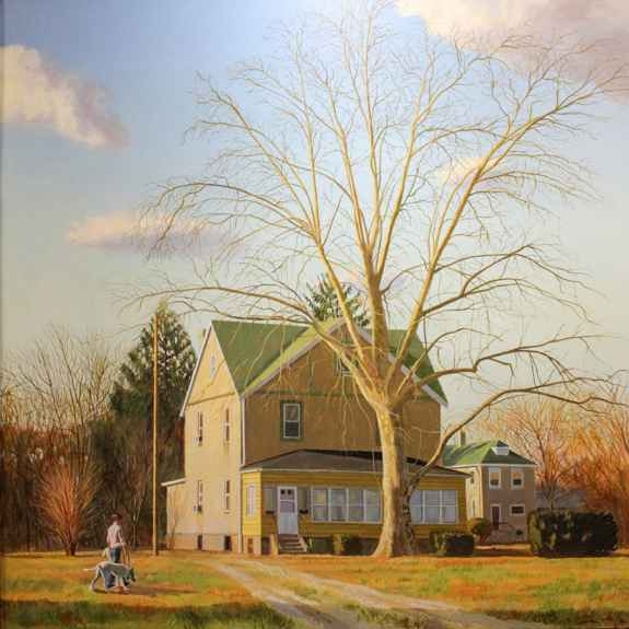 """Warm Fall Day  48"""" x 48""""  Oil On Canvas"""