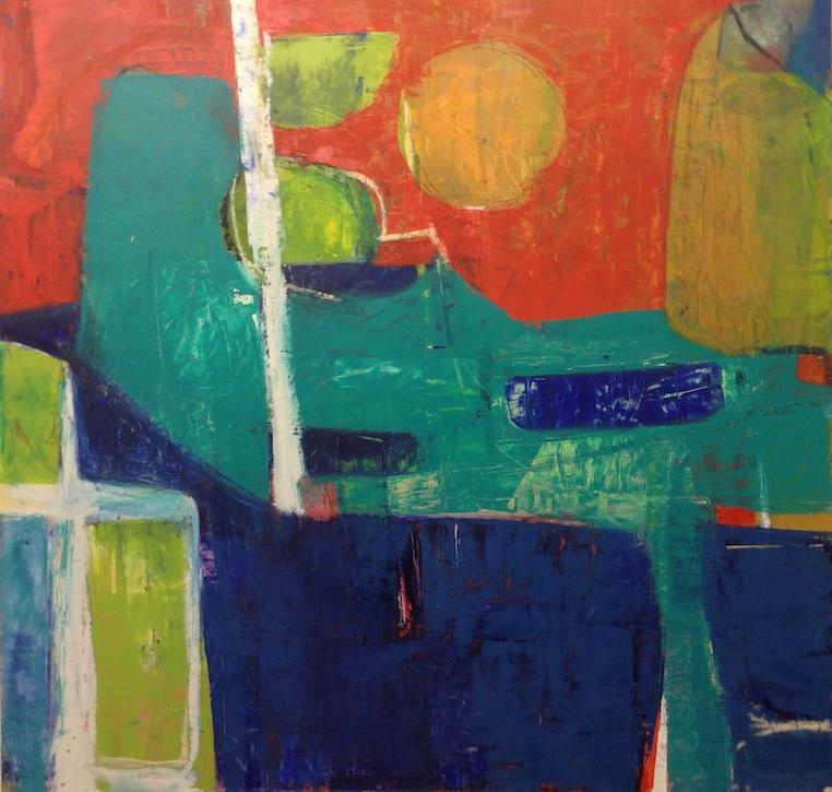 "Pastoral 2  36"" x 43""  Oil On Panel"