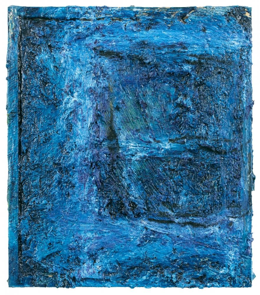 """Night Window  17"""" x 15""""  Oil On Canvas"""