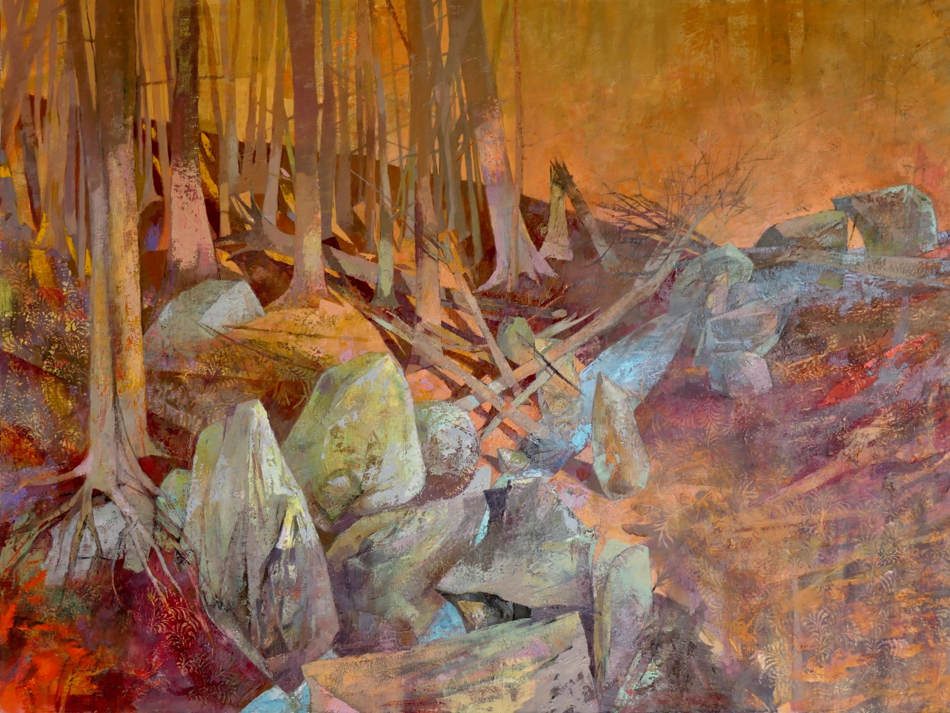 """Glacial Woods  47"""" x 62""""  Oil On Canvas"""