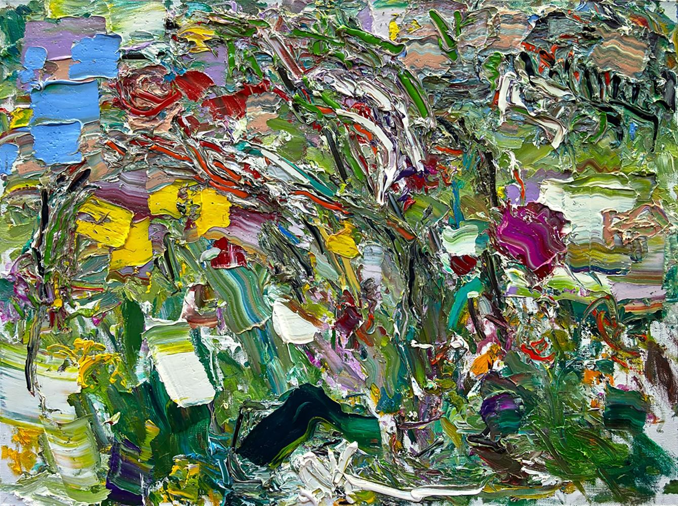"""Shower Of The Roses  36"""" x 48""""  Oil On Linen"""