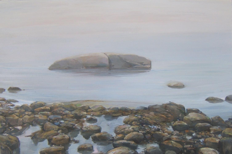 """Whale Rock Fog II 18"""" x 24"""" Oil On Panel"""