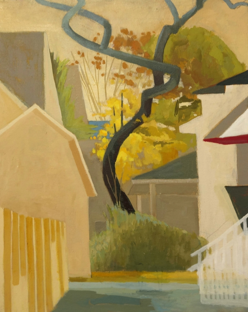 Celia Reisman, S Tree, oil on canvas, 20 x 16 inches