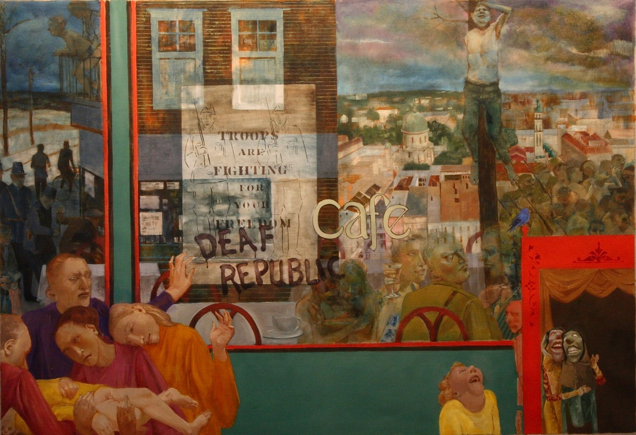"""Large Image (Deaf Republic Series)  48"""" x 70""""  Oil On Canvas"""