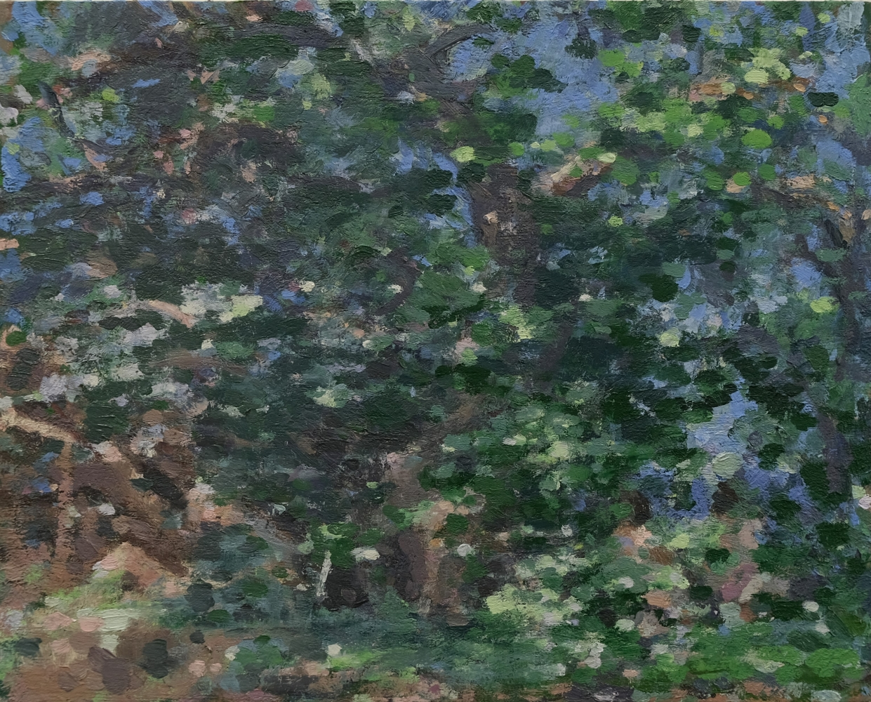 """Nudes In The Forest  16"""" x 20""""   Oil On Wood"""