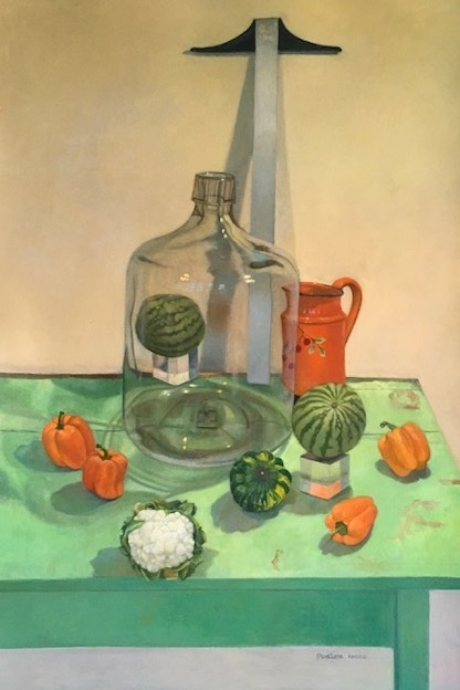 """Melon High  56"""" x 40""""  Oil On Paper Mounted On Board"""