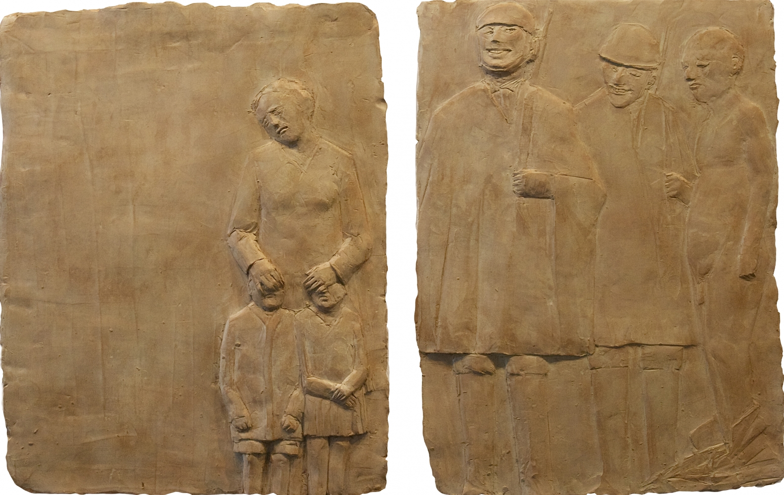 "Denigrating A Father  18"" x 28""  Terracotta"