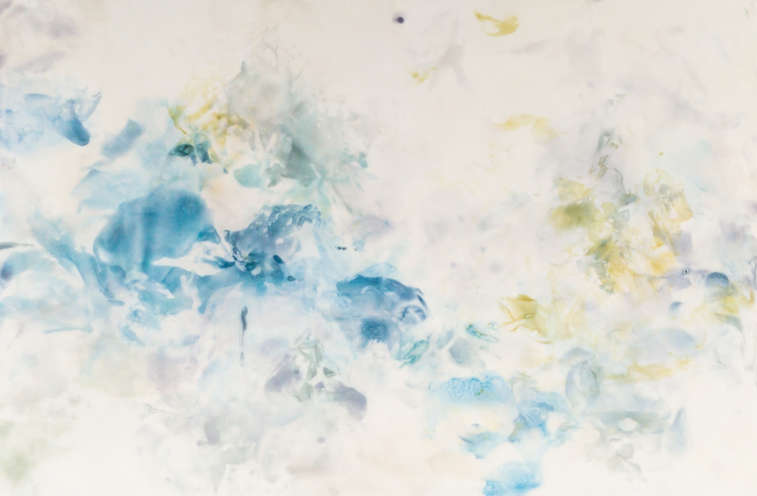 """Betsy Eby, Spirit   24"""" x 36""""  Hot Wax, Cold Wax, Ink, Oil On Panel"""