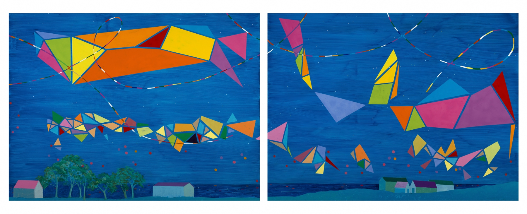 """Dreaming Of Achill (Diptych)  38"""" x 92""""  Oil On Canvas"""