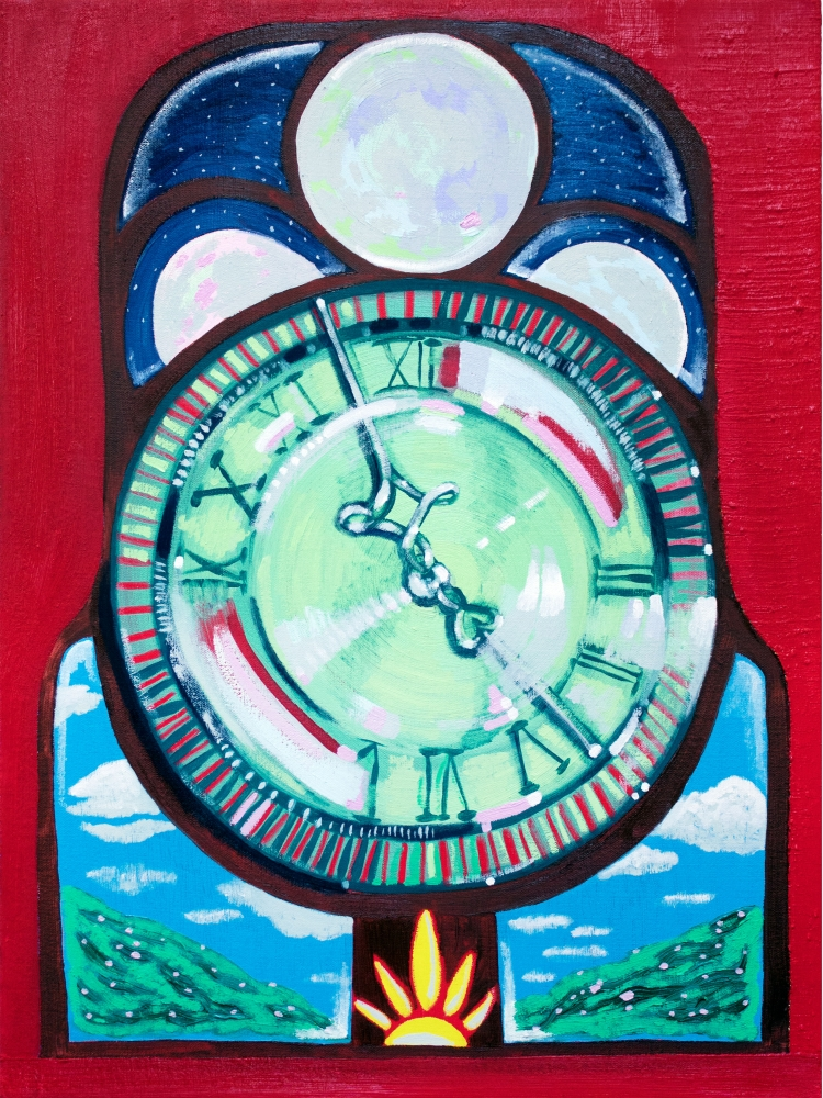 """Time Stopped (When You Entered The Room)  24"""" x 18""""  Oil On Canvas"""