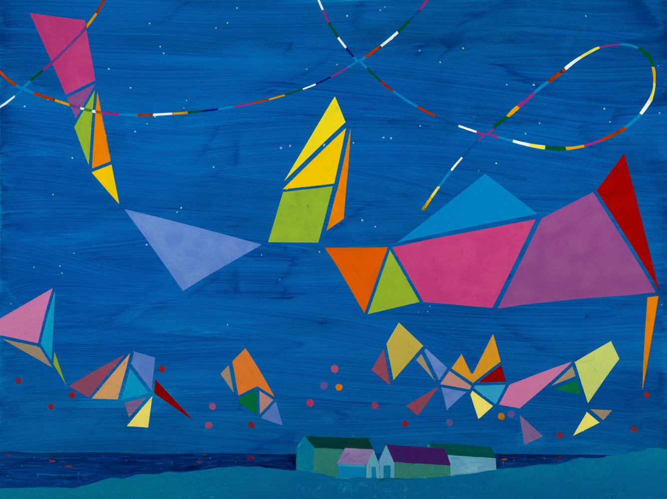 """Dreaming of Achill (right panel detail)  38 x 46""""  Oil on canvas"""