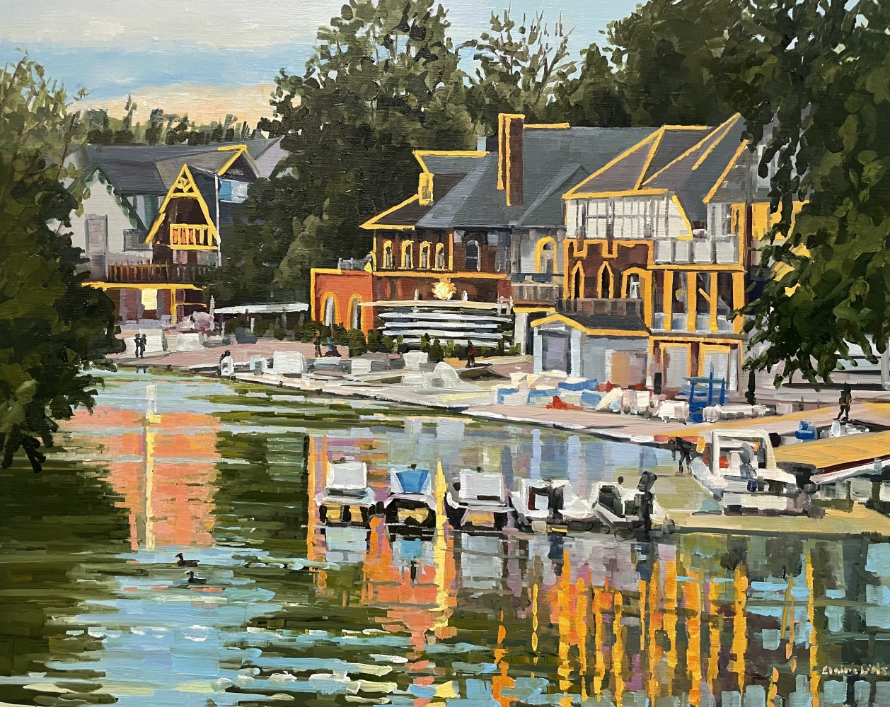 """Putting The Boats To Bed  24"""" x 30""""  Oil On Linen"""