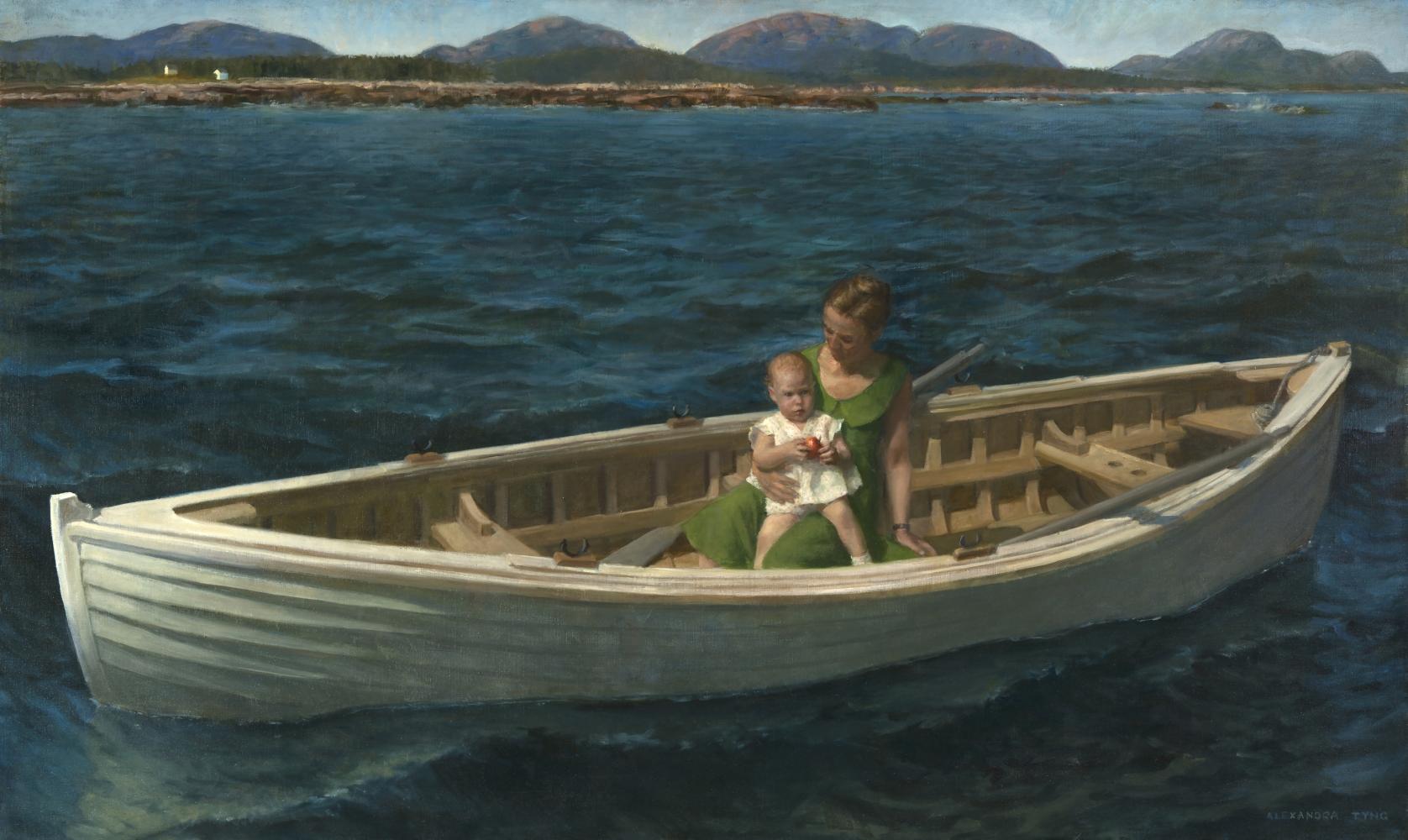 """Alexandra Tyng, New World  36"""" x 60""""  Oil On Linen"""