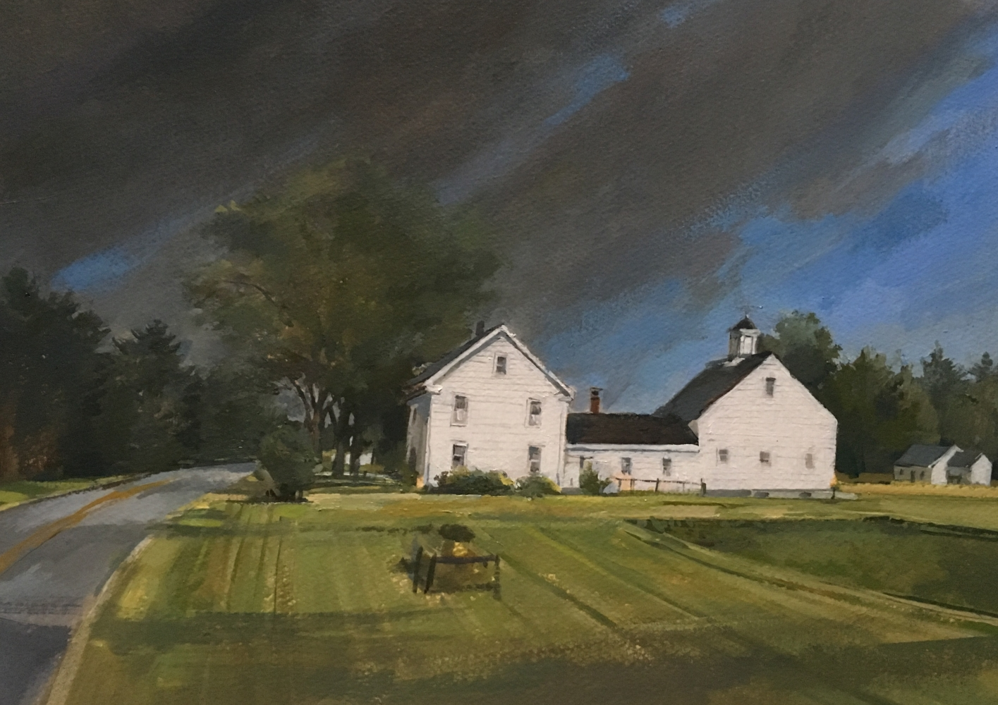 """White House  11"""" x 15""""  Oil On Board"""