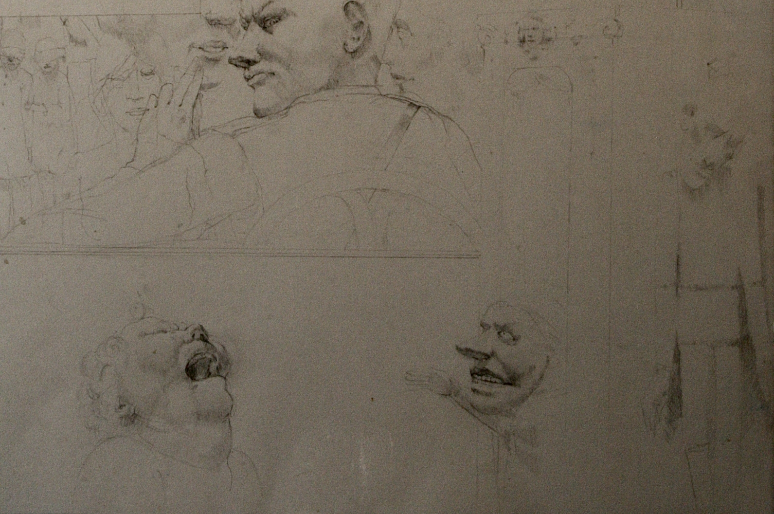 """Overture Study #5  14"""" x 22""""  Pencil On Paper"""