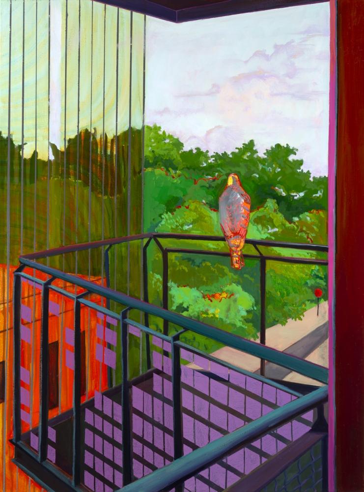 "Deirdre Murphy, Edgeland II Looking Out  40"" x 30""   Oil On Canvas"