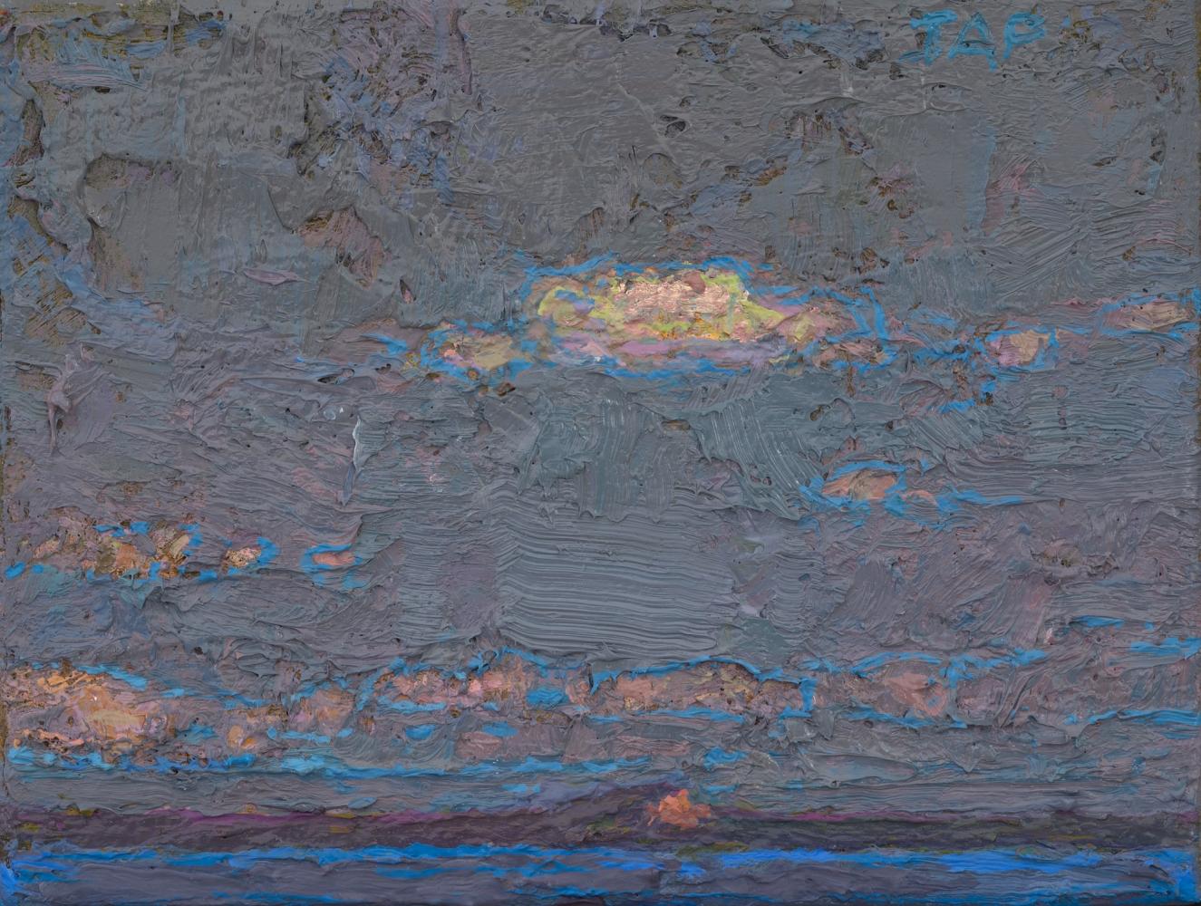 """Mt. Kineo From Rockwood III  3.5"""" x 4.5""""  Oil/Linen/Mounted Wood Panel"""
