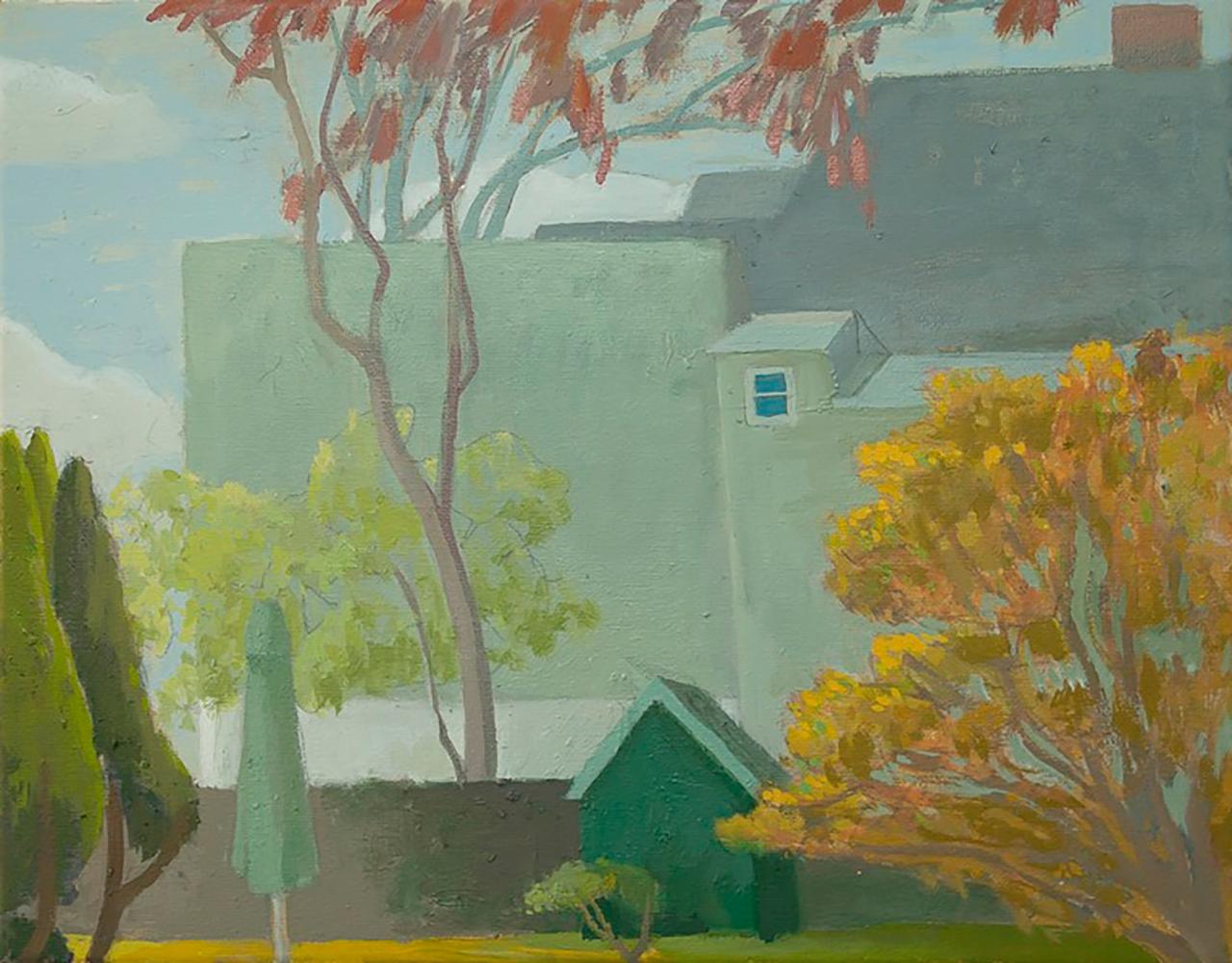 Celia Reisman, Gray Day, oil on canvas, 11 x 14 inches