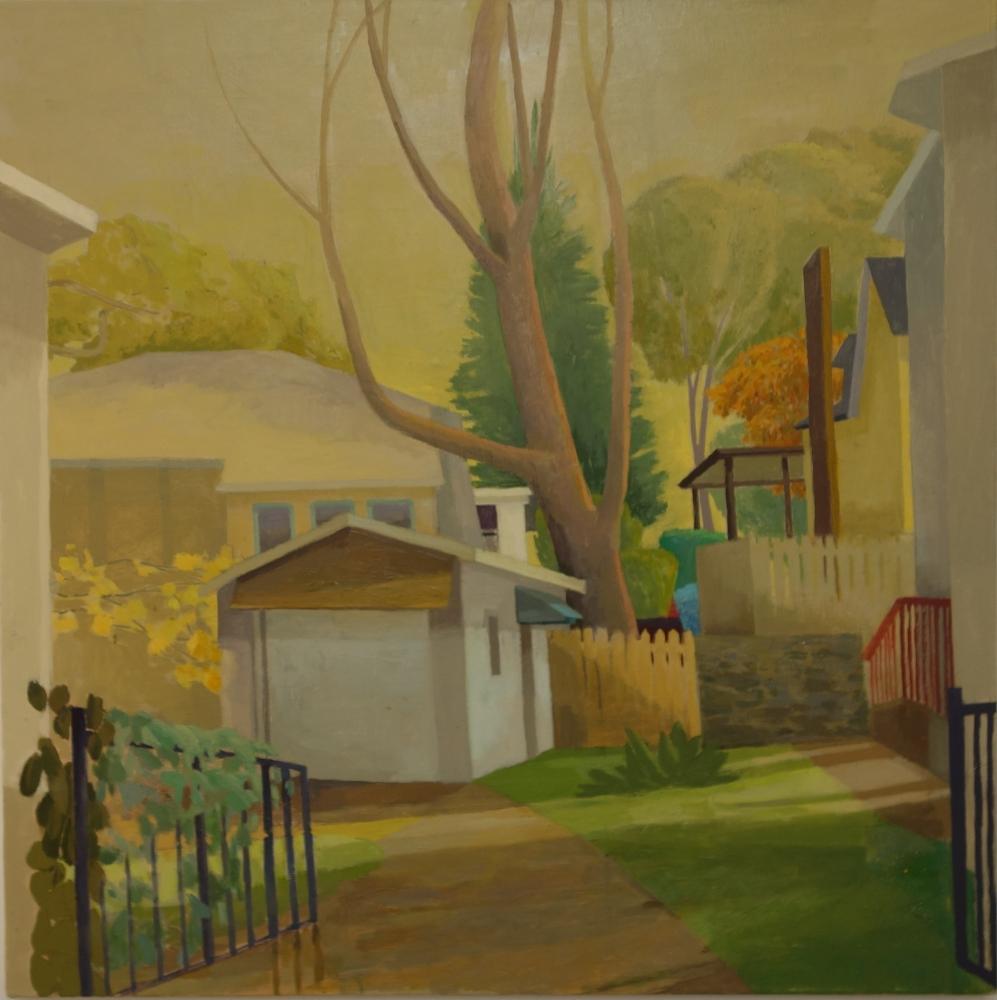 """Celia Reisman, Open Gates  30"""" x 30""""  Oil On Canvas"""