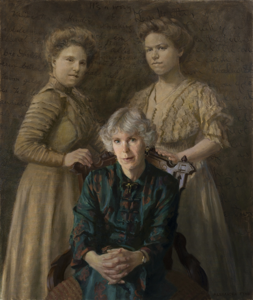 """The Grandmothers  40"""" x 34""""  Oil On Linen"""