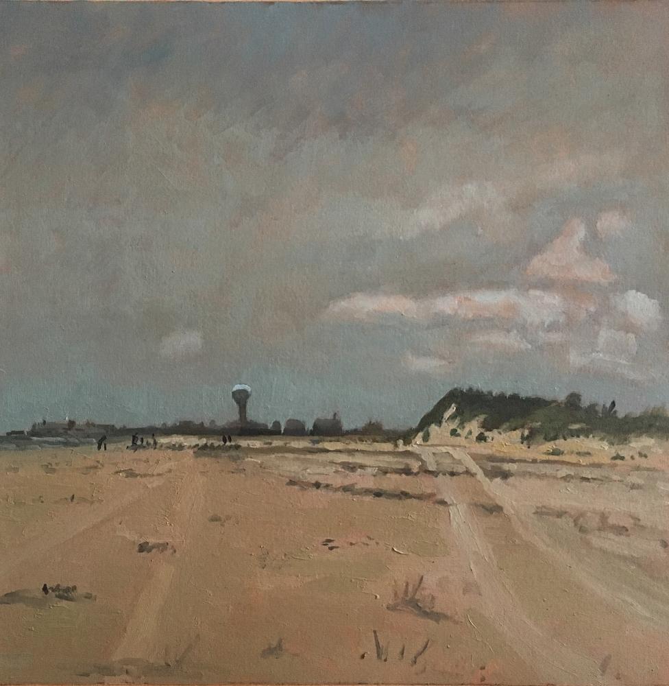 """Dunes  12"""" x 12.25""""  Oil On Panel"""