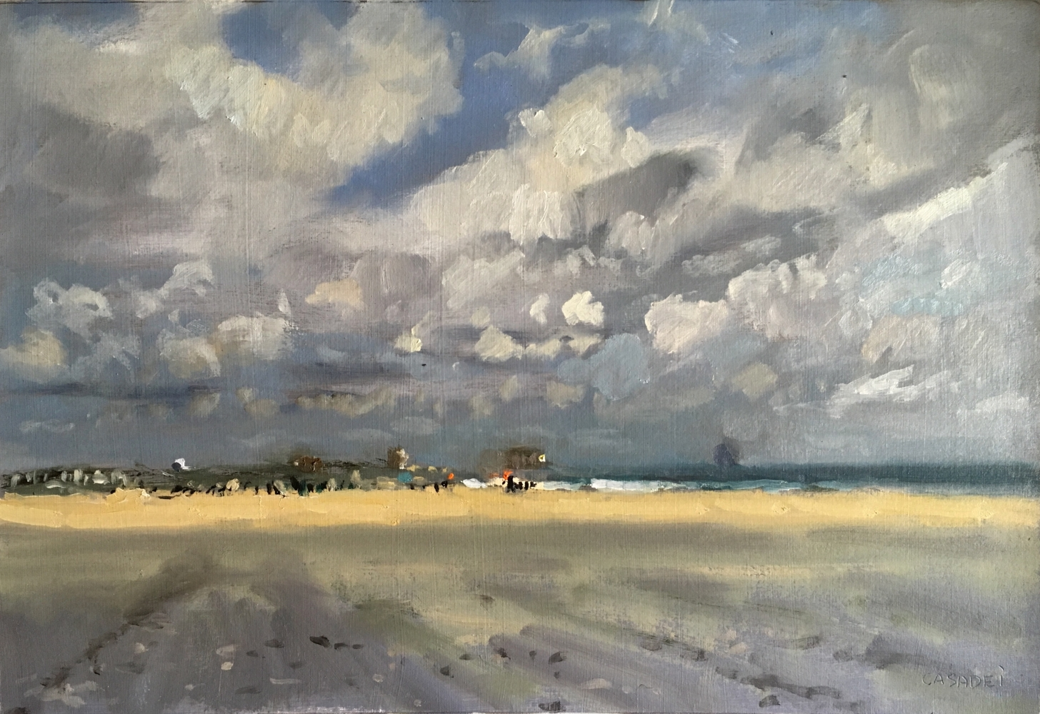 """Moving Clouds  9.5"""" x 14""""  Oil On Panel"""
