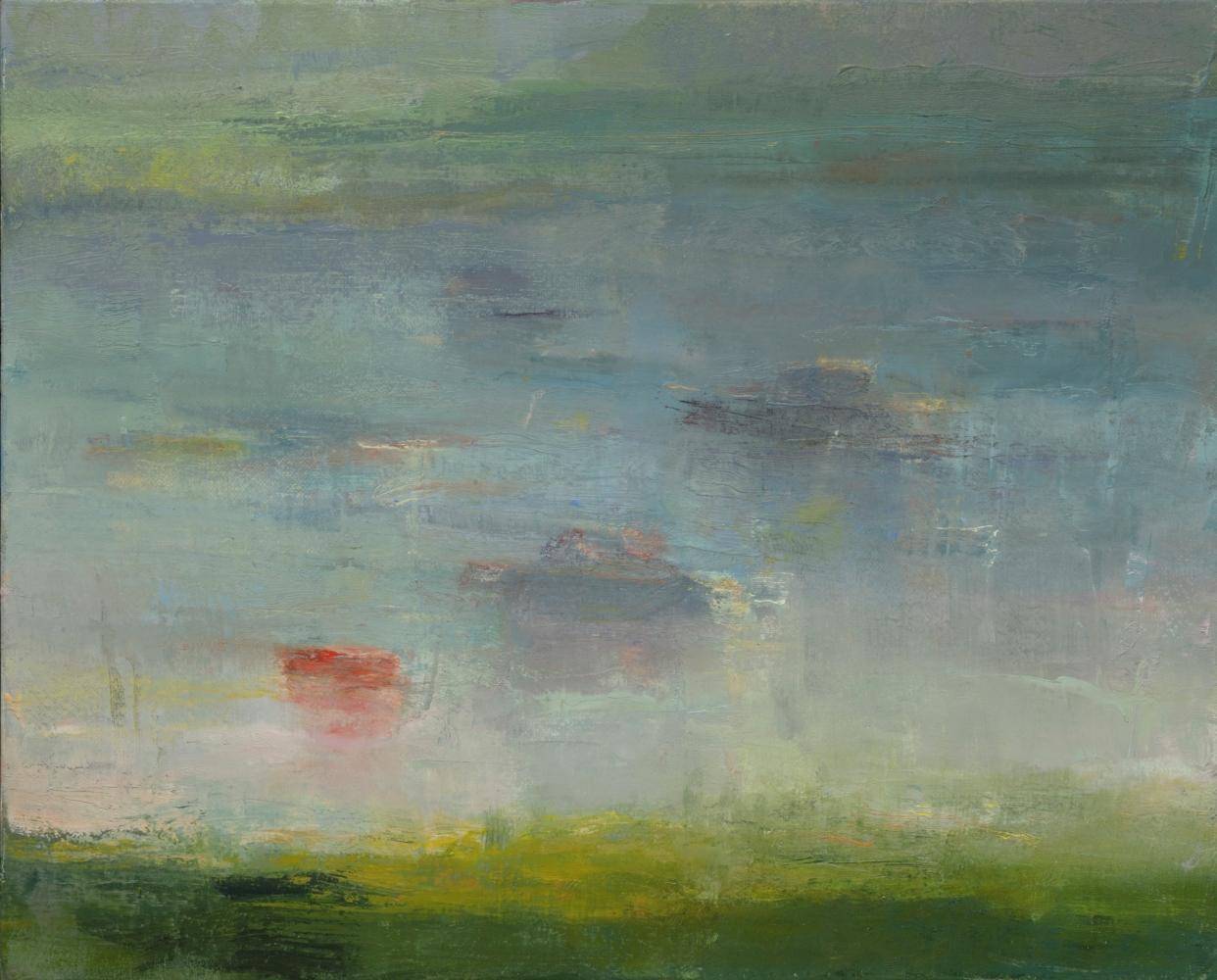 """Harbor In The Mist  16"""" x 20  Oil On Linen"""