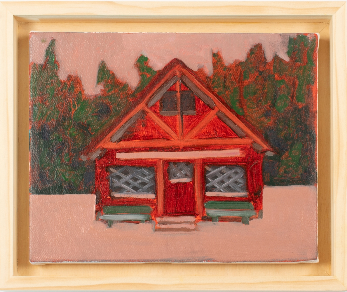 """Pioneer Cabin  8"""" x 10""""  Oil On Canvas"""