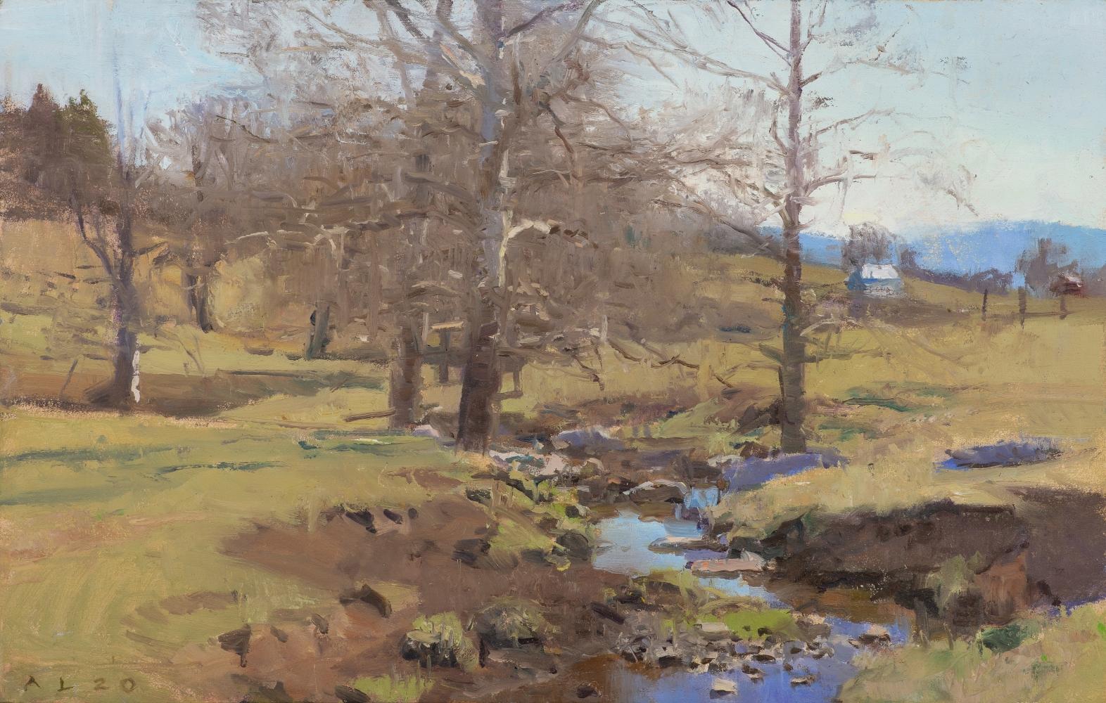 """Swover Creek II   8"""" x 12.5""""  Oil On Panel"""