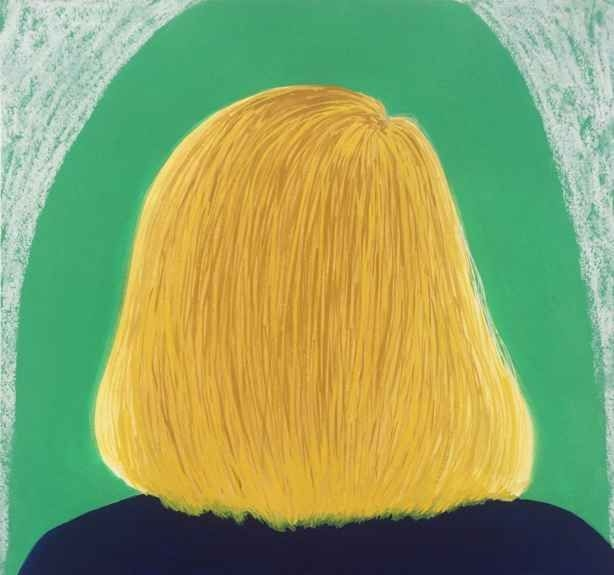 """Leigh Werrell, Blonde Girl 12"""" x 11""""  Gouache And Pastel On Paper"""