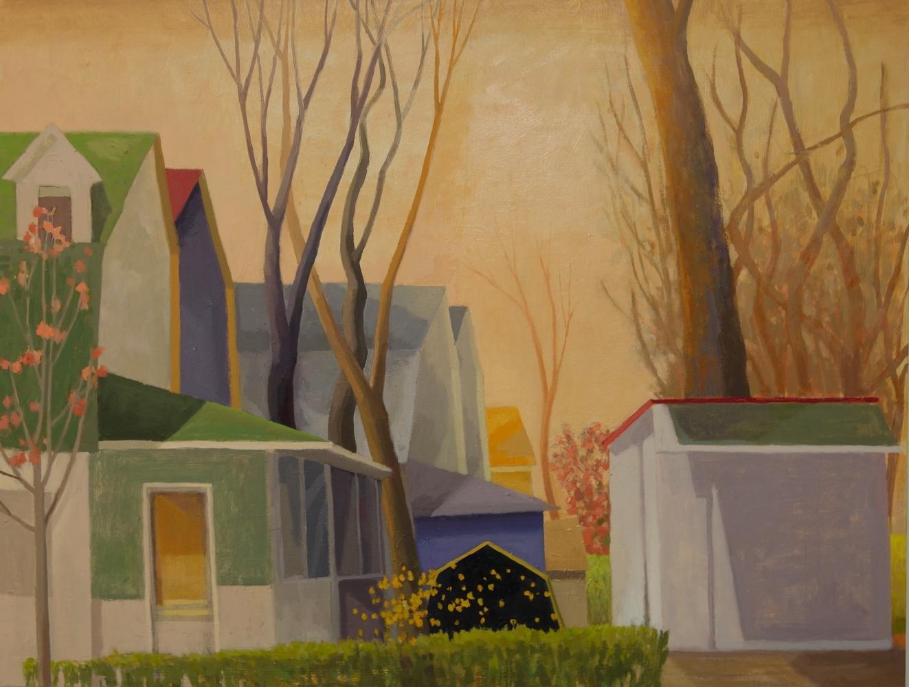 "Celia Reisman, Corner Confetti  26"" x 34""  Oil On Canvas"