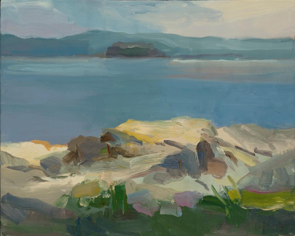 "Rocky View Toward Bear Island  16"" x 20""  Oil On Linen"
