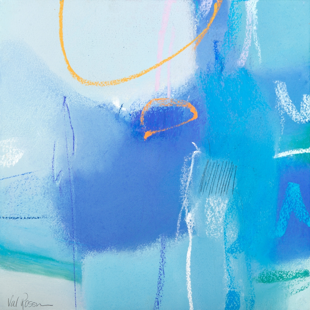 "Val Rossman, So Blue Sky  10"" x 10""  Pastel"