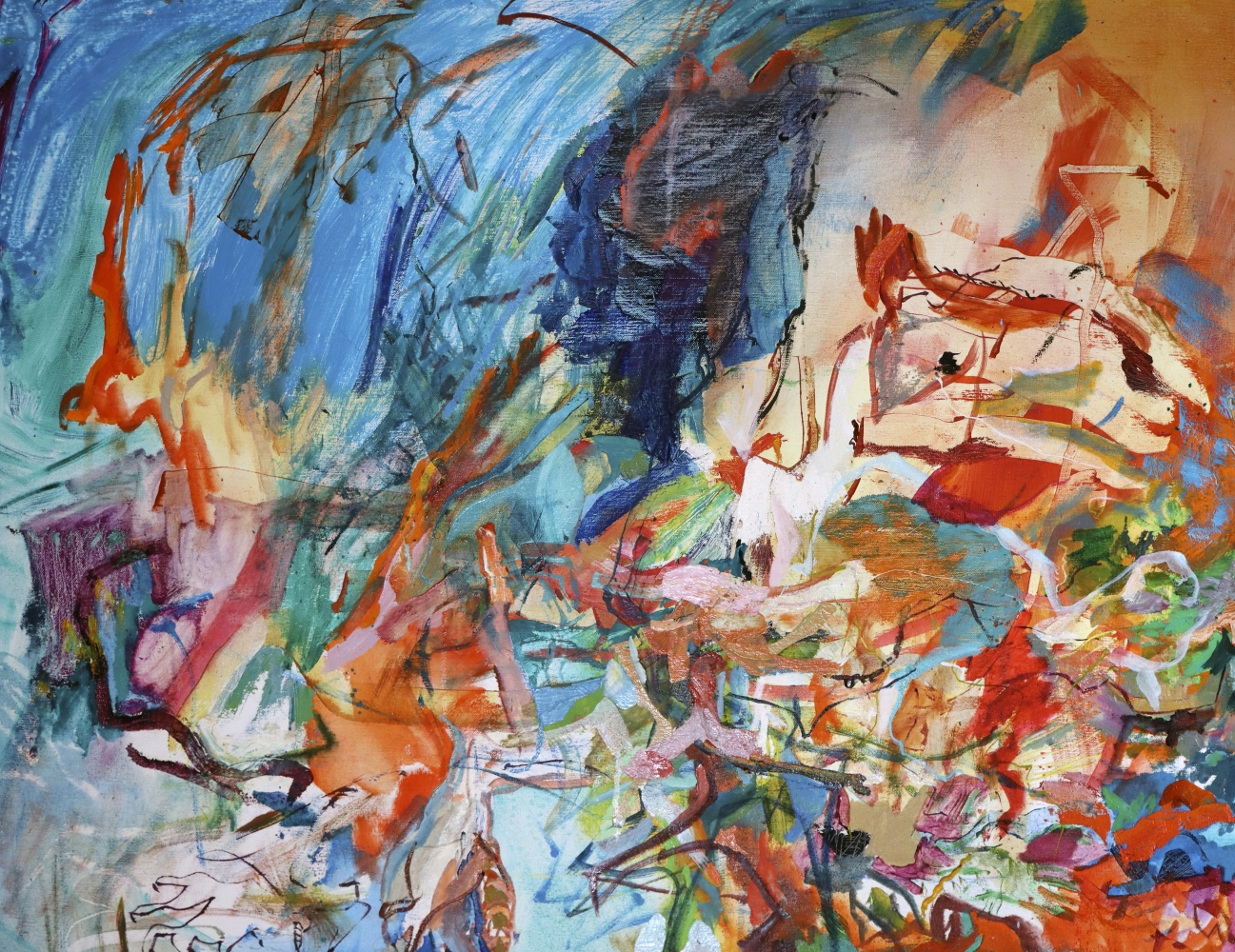 """Artist Benjamin Passione, 24.5"""" by 32"""", Oil On Canvas, Titled Sketch Bird Of Prey"""