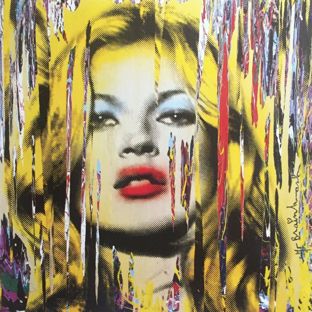 Mr Brainwash, Kate Moss, 2009, Lithograph on paper, 24 x 24 inches, Framed: 32 x 32 inches, Mr. Brainwash prints for sale