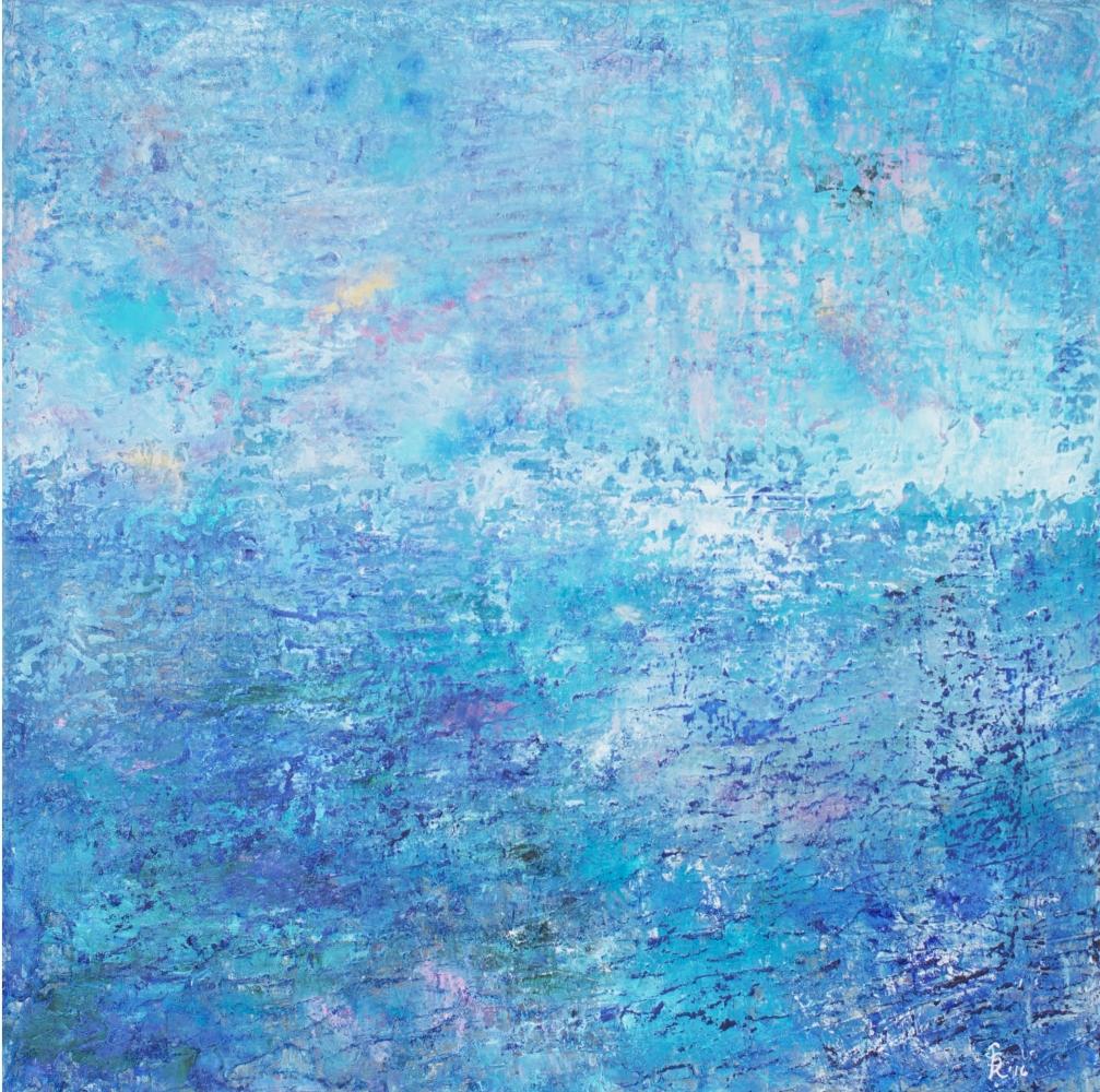 Jill Krutick, Beach Day, 2016, Oil on canvas, 40 x 40 inches