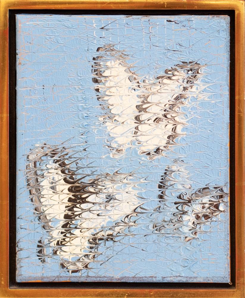 Hunt Slonem, Cabbage Butterflies, 1982, Oil painting on canvas, 23.5 x 17 inches, Hunt Slonem butterflies, Hunt Slonem art for sale