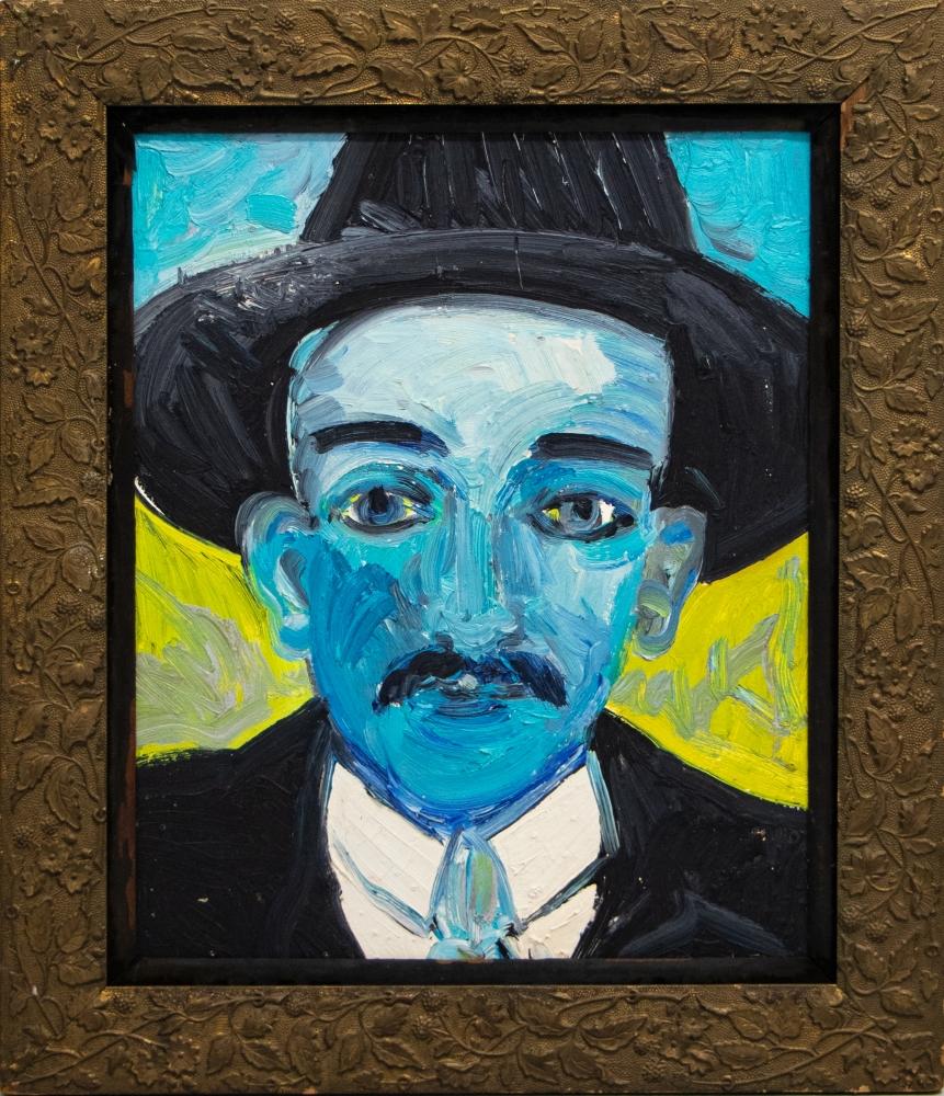Hunt Slonem, Dr Gregorio Hernandez, Oil on canvas, 1988, 25 x 21.5 inches, Hunt Slonem art for sale